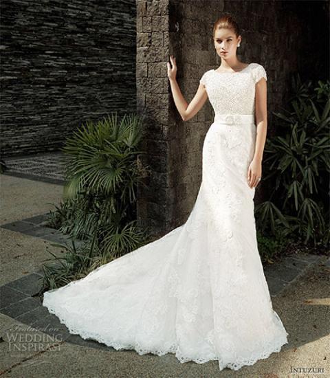 váy cưới lãng mạn
