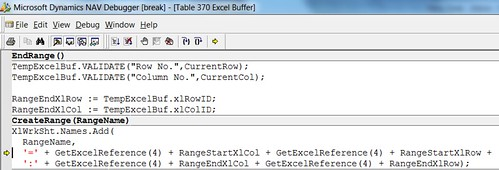 Error when exporting Budget to Excel - Function CreateRange