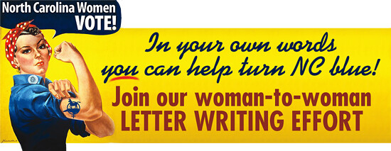 NC Women VOTE Woman-to-Woman Letter Writing