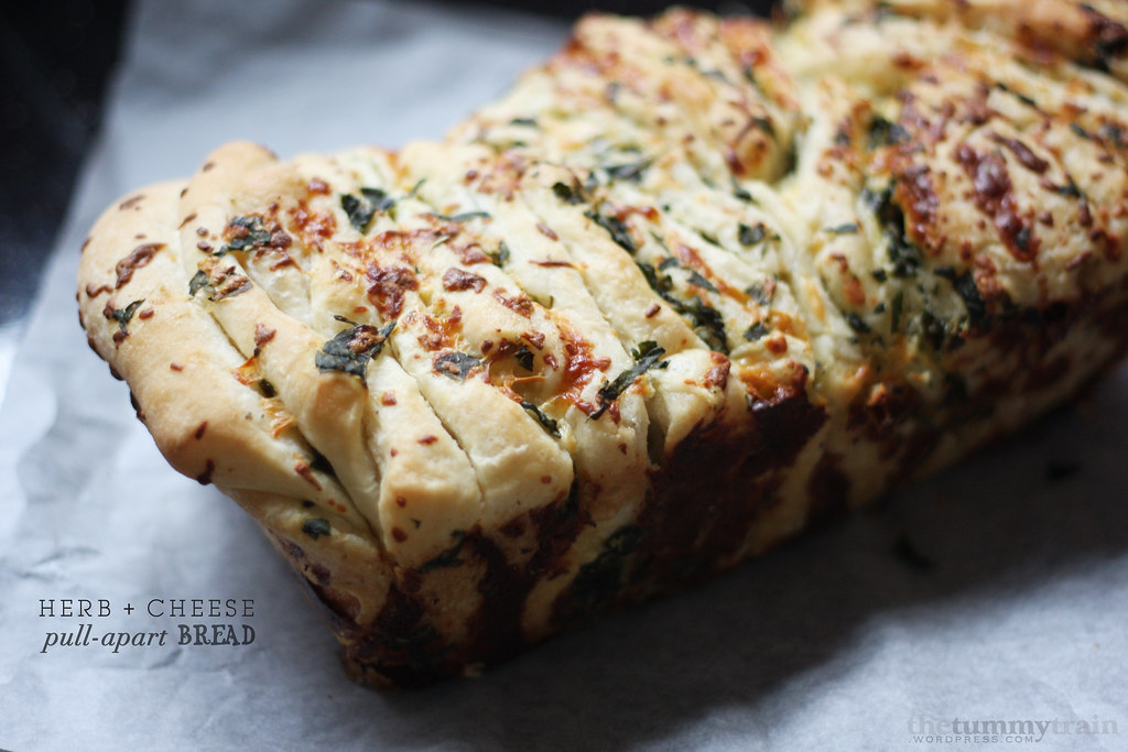 Herb & Cheese Pull Apart Bread