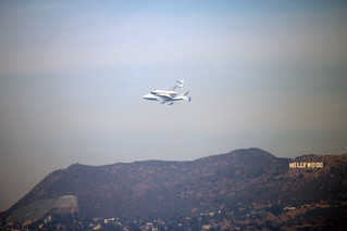 Endeavour Space Shuttle and the Hollywood Sign