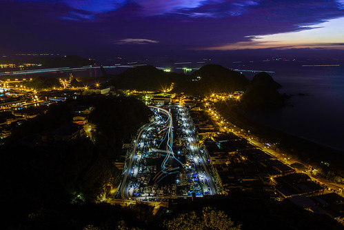 sunrise taiwan 宜蘭 晨昏 南方澳漁港 船軌 昭安觀景台