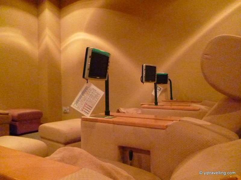 Reclining chairs at Ooedo Onsen Monogatari
