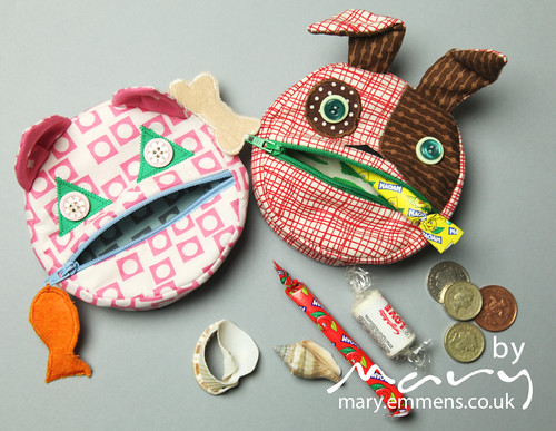 Feed the animals coin purses