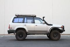 toyota land cruiser prado(0.0), automobile(1.0), automotive exterior(1.0), sport utility vehicle(1.0), wheel(1.0), vehicle(1.0), compact sport utility vehicle(1.0), toyota 4runner(1.0), off-roading(1.0), bumper(1.0), toyota land cruiser(1.0), land vehicle(1.0),