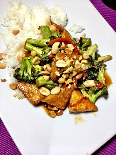 Tofu and Broccoli w. Shoyu-Mirin Sauce