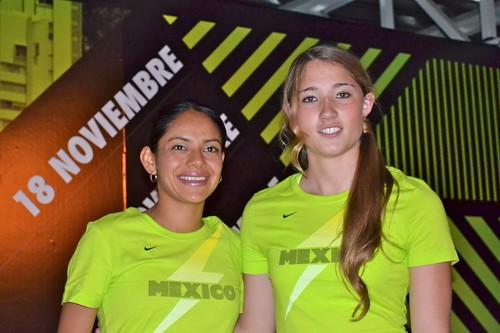 Atletas Marisol Romero y Matilde Alvarez