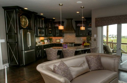 Pendant lighting in a new home