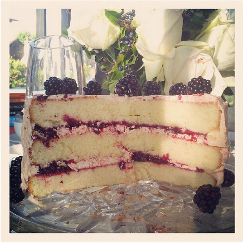 Blackberry & lemon layer cake
