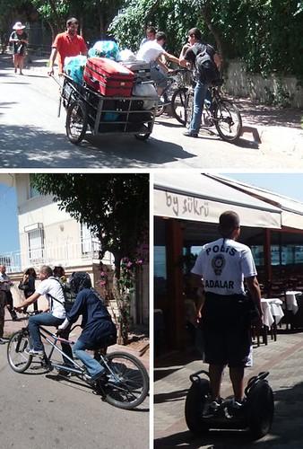 Bicajok és a rendőrségi segway