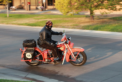 Vintage Motorcycle CannonBall Run