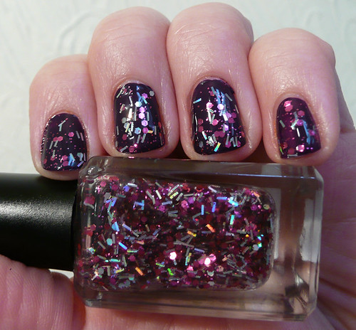 gelly blackberry 4 + glitter