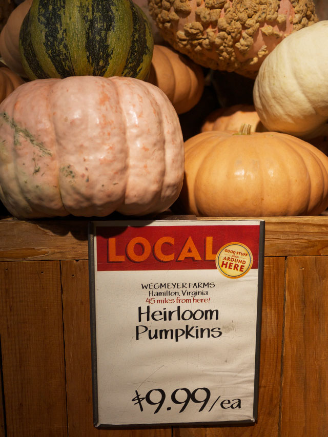 local heirloom pumpkins from whole foods