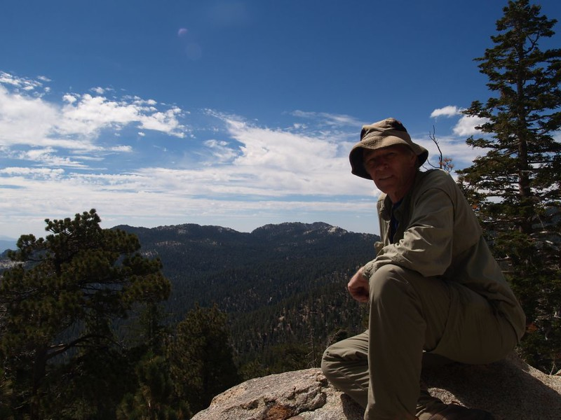 Me at Hidden Lake Divide with Tahquitz Peak in the distance