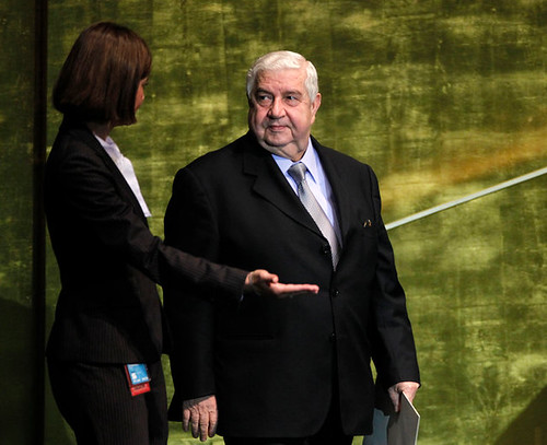 Walid al-Maallem, Syrian Foreign Minister, addressed the United Nations General Assembly opening debate on October 1, 2012. Syria has been a target of imperialist regime-change strategy for the Middle East. by Pan-African News Wire File Photos