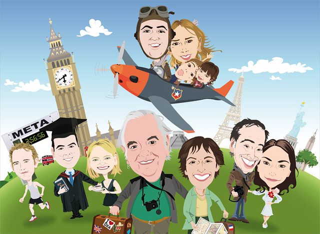 Caricatura de familia viajera | Flickr - Photo Sharing!