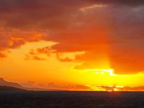 Sunset over Moody Skies, Tenerife