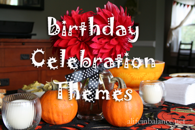 birthday celebration themes