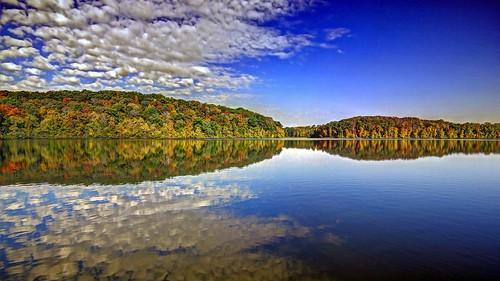 [フリー画像素材] 自然風景, 河川・湖, 森林, 反射・鏡像 ID:201210110600