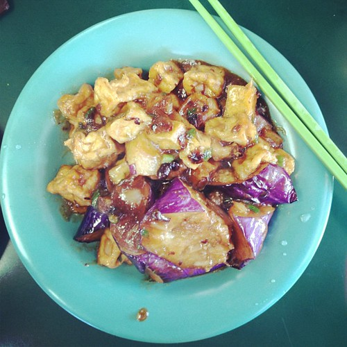 Eggplant Tofu at Veggie Heaven! #vegan #lunchtime at #sxsweco