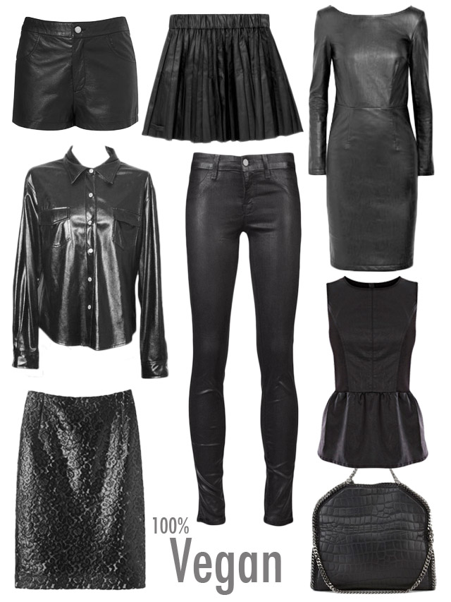 Black faux leather trend