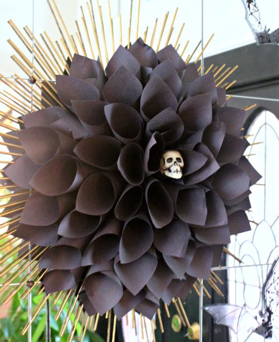 black paper dahlia