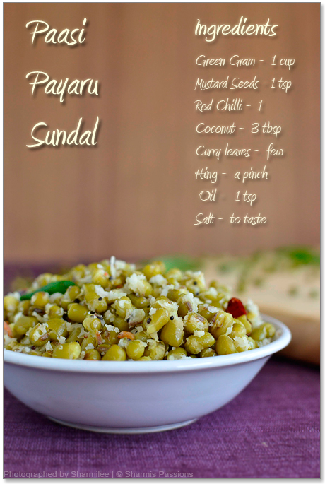 Paasi Payaru Sundal Recipe