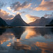 Milford Sound Symmetrical Sunset by Panorama Paul