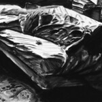 Exhausted woman, charcoal on canvas, 1989