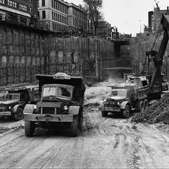 Construction de la station de métro Berri-de-Montigny. 1964. VM94-M000-009. Archives de la Ville de Montréal.