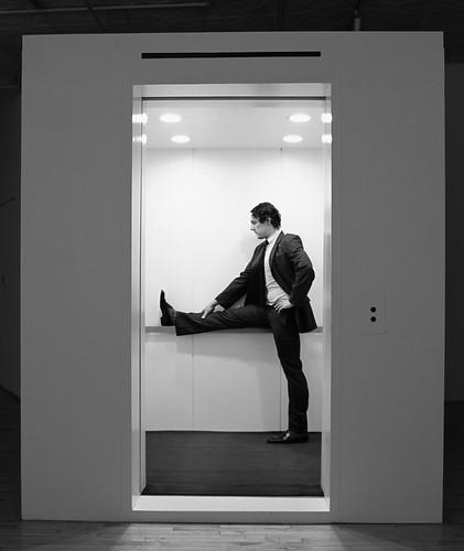 Nyújtás a liftben