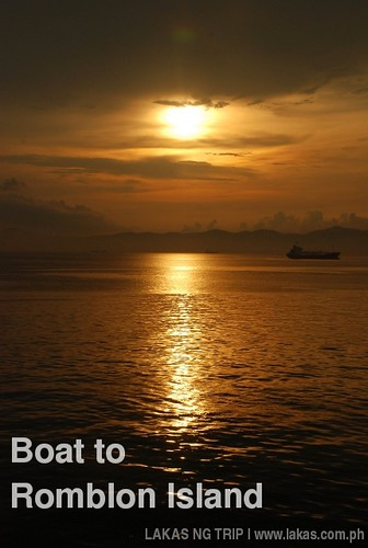 Sunset on our boat ride from Batangas Port to Romblon