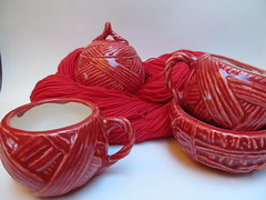 The ceramic yarn collection: Cranberry Red