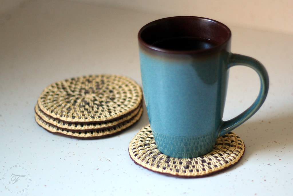 faux coiled rope coasters