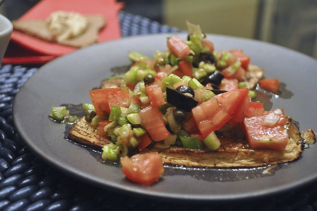 Eggplant Tartines