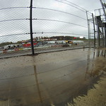 Rains hit after the first flight of hot laps