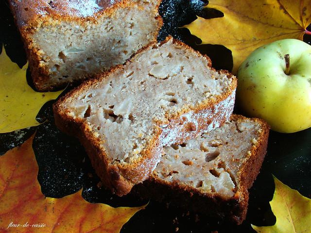 кекс творожный с яблоками и медом 3
