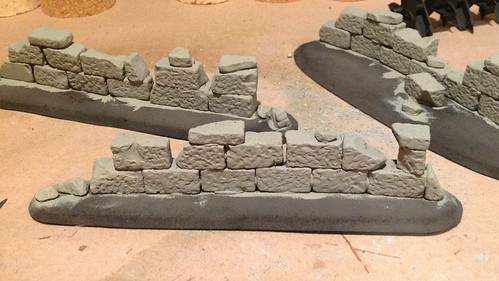 Stone wall, base coat