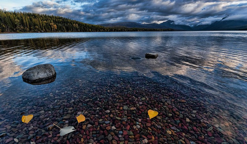 Lake-McDonald-with-Leaves