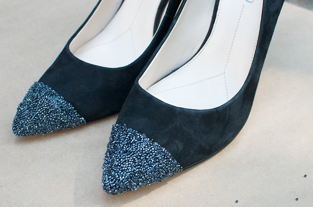 diy nine west caviar tipped heels 8