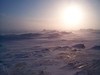 Hummocks Iqaluit Blizzard Sun