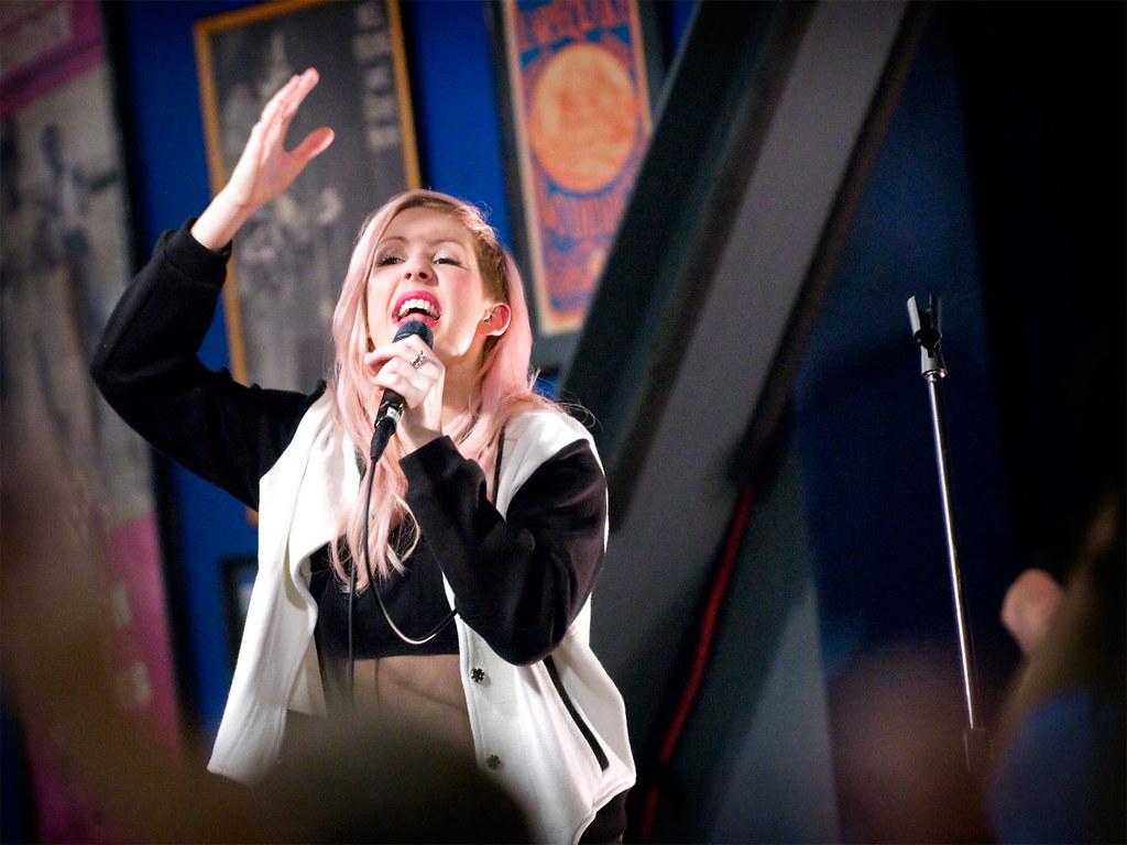 Ellie Goulding performs at Amoeba