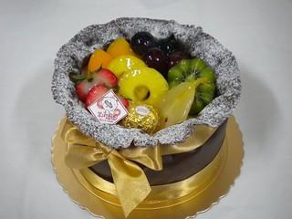 生日蛋糕 芋泥水果