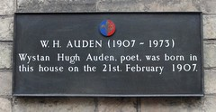 Photo of W. H. Auden black plaque