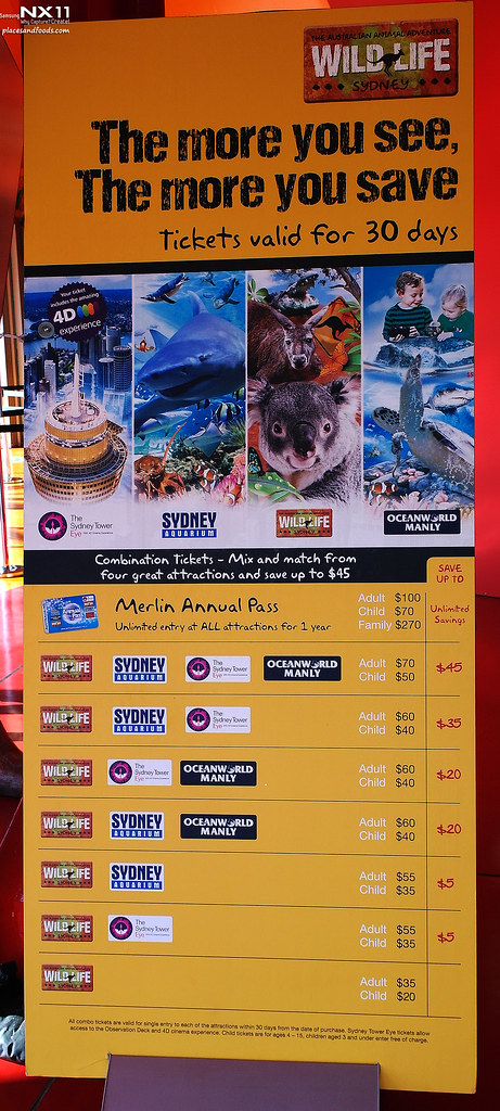 WILD LIFE Sydney Zoo prices
