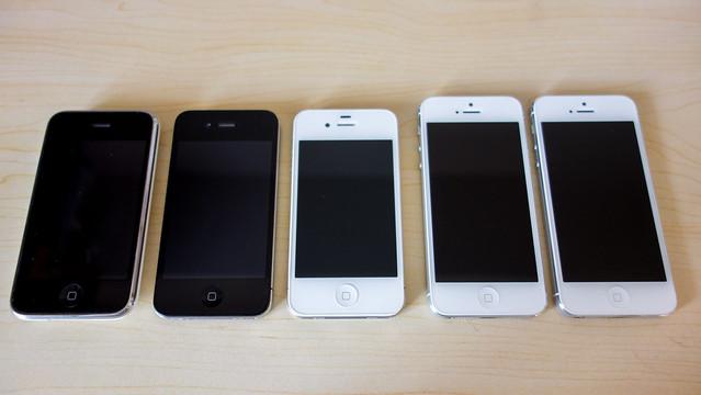 Five iPhones
