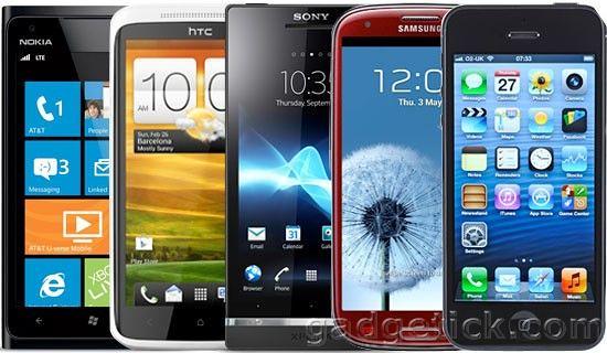 Samsung Galaxy S3 и iPhone 5