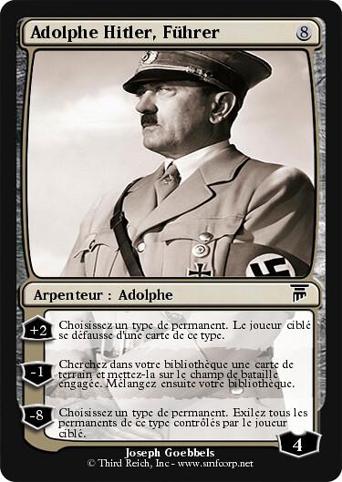 Adolphe Hitler Mtg Fun Card Explore Startracker S