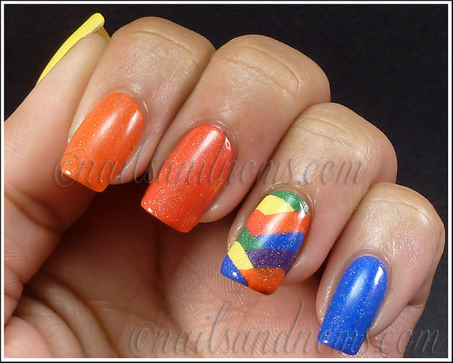 31DC2012 Day 9 - Rainbow Nails 6