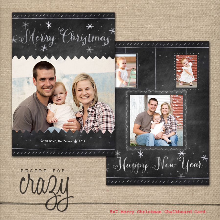 Recipe For Crazy Blog: Custom Photo Christmas Cards Are Here